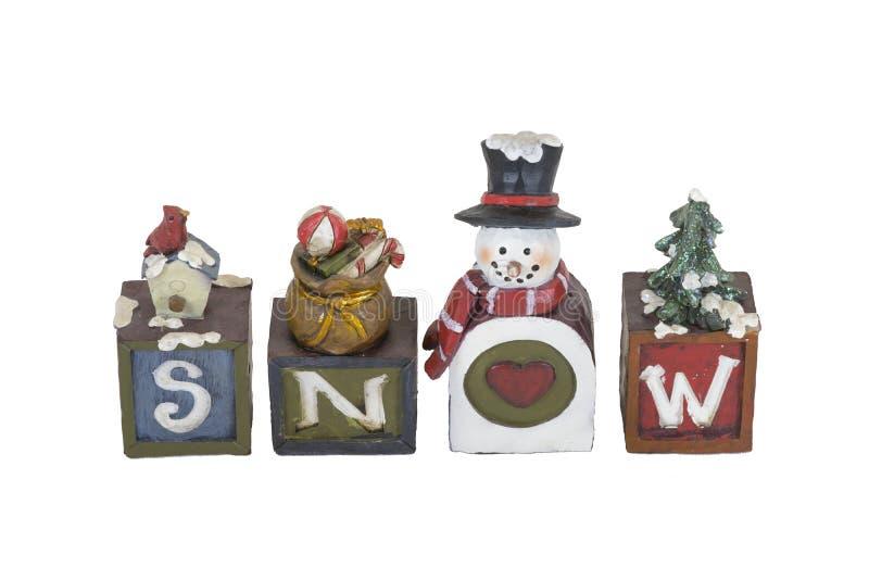 Schnee-Mitteilung lizenzfreie stockbilder