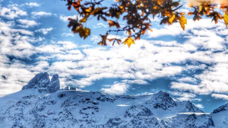Schnee mountum stockfoto
