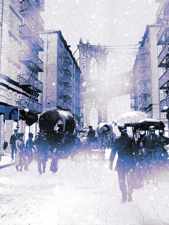 Schnee in New York vektor abbildung