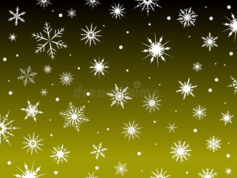 Schnee-Rand-Gelb vektor abbildung