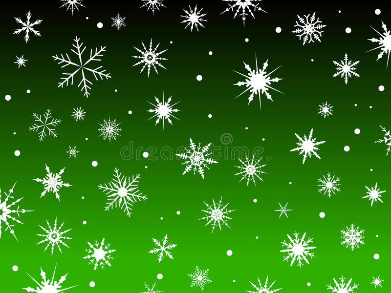 Schnee-Rand-Grün vektor abbildung
