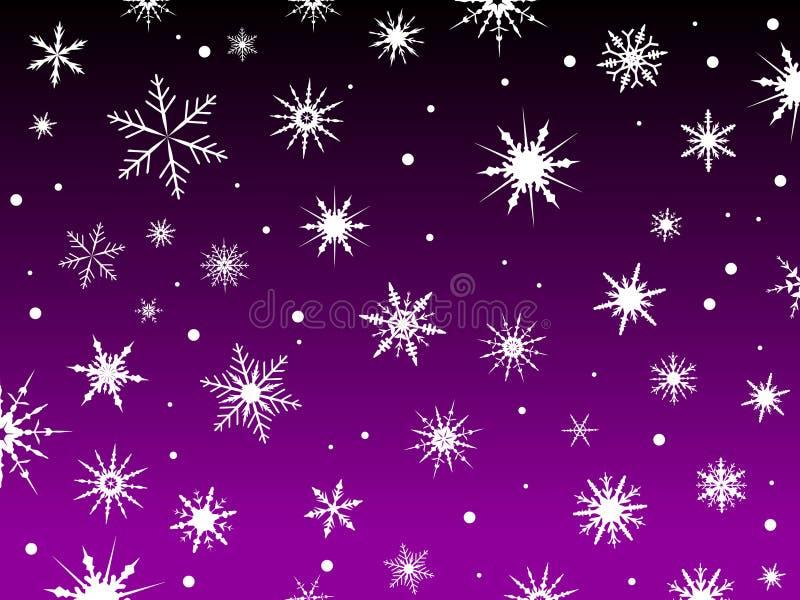 Schnee-Rand-Purpur lizenzfreie abbildung
