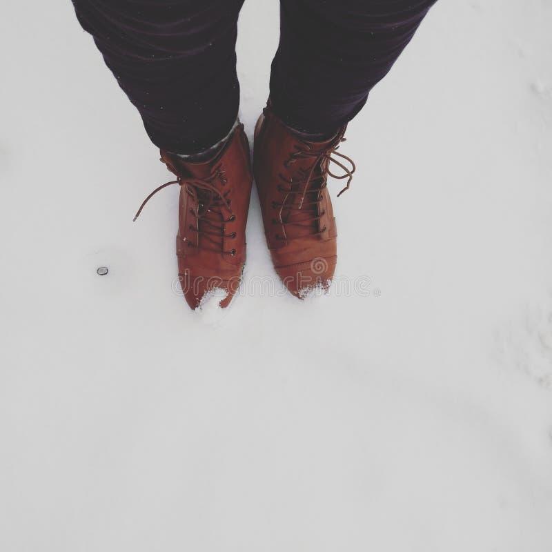 Schnee-Stiefel stockbilder