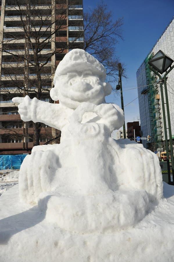 Schnee Sulpture stockbilder