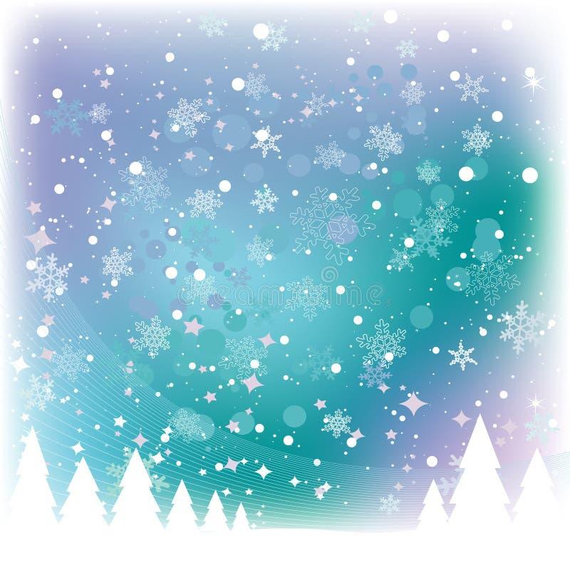 Schnee-Szene stock abbildung