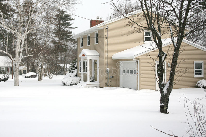 Schnee-Tag stockfotografie