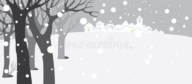Schnee umfaßte Hintergrund stock abbildung