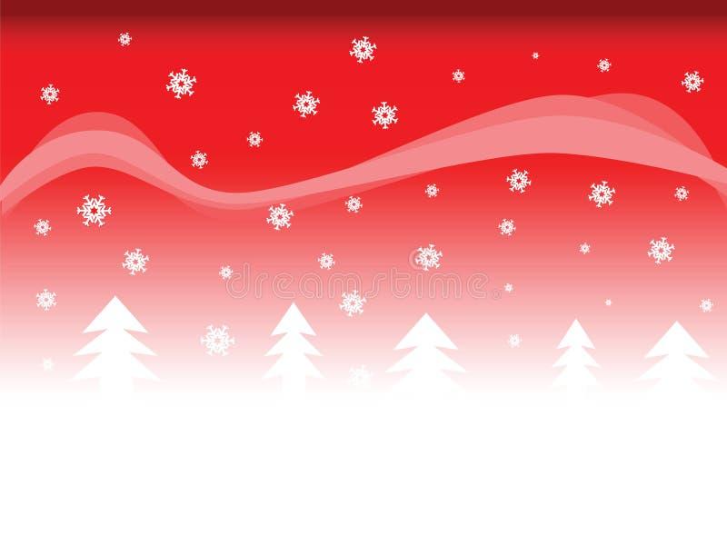 Schnee- und Baumhintergrund lizenzfreie abbildung