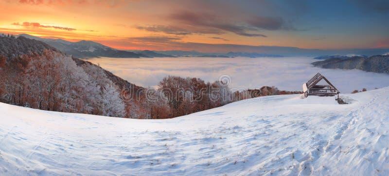 Schnee und Dampf stockfotos