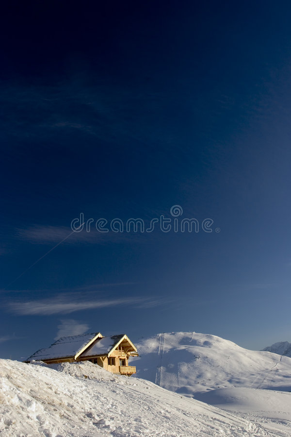Schnee und Himmel lizenzfreies stockfoto