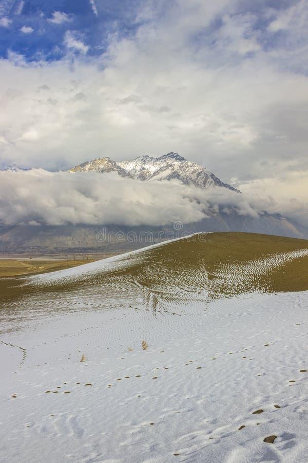 Schnee-Wüste Skardu stockfotos