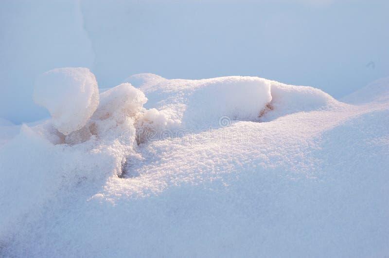 Schneeantriebe stockfoto