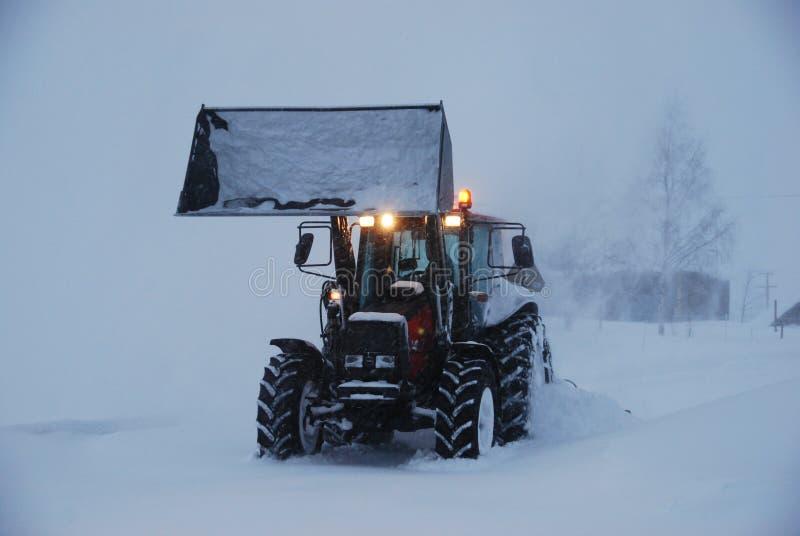 Schneeausbau stockfoto