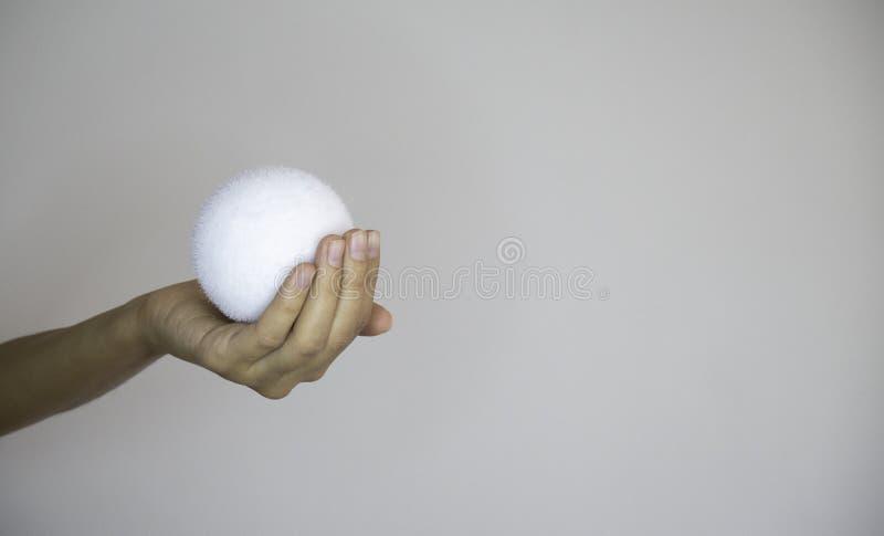 Schneeball, gefälscht, weiblich, weißer Hintergrund stockbild