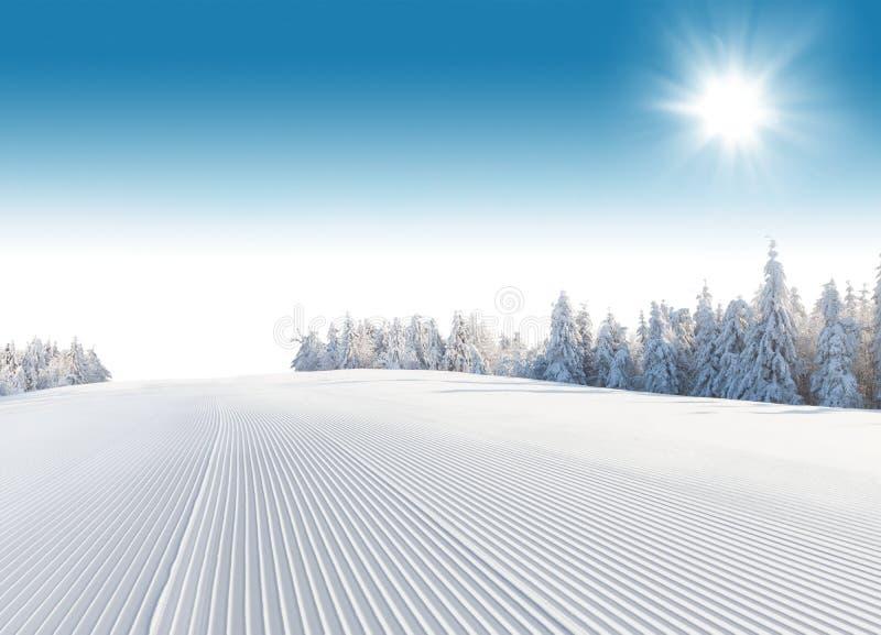 Schneebedeckte Landschaft des Winters lizenzfreie stockbilder