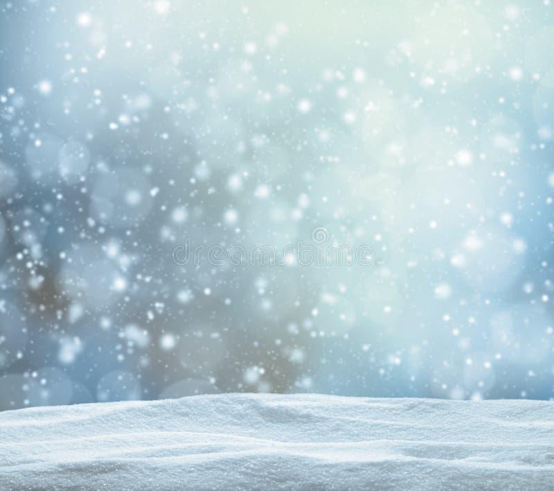Schneebedeckter abstrakter Hintergrund des Winters lizenzfreies stockfoto