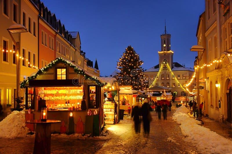 schneeberg рынка рождества стоковое фото rf