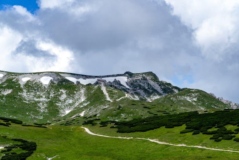 Schneebergberg in de alpen stock foto
