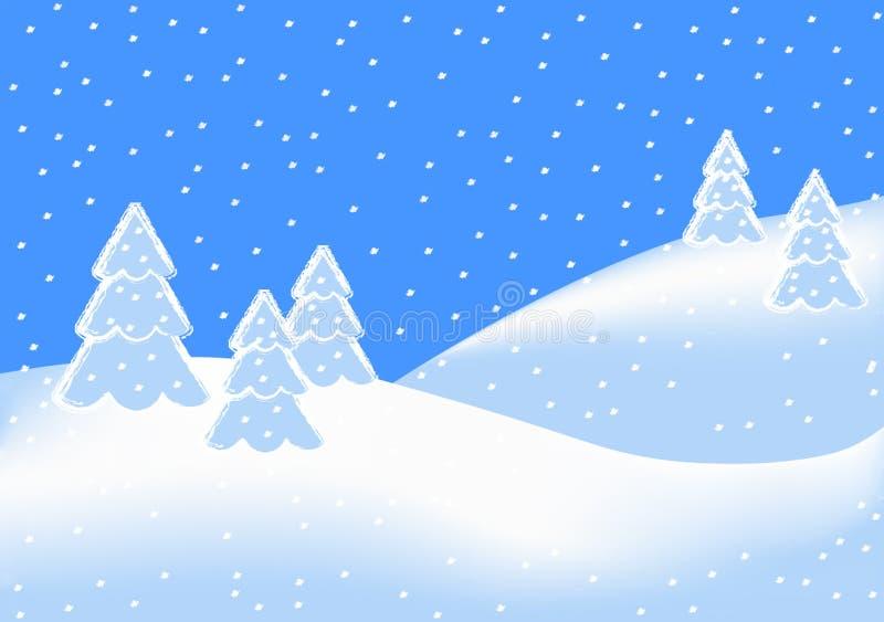 Schneefälle lizenzfreie stockbilder