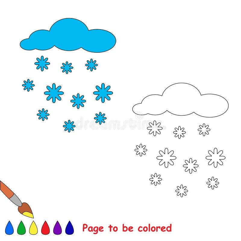 Schneefälle in der gefärbt zu werden Vektorkarikatur vektor abbildung