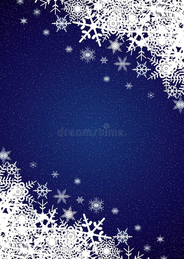 Schneefall-Hintergrund vektor abbildung