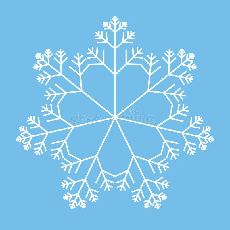 Schneeflocke lizenzfreie abbildung