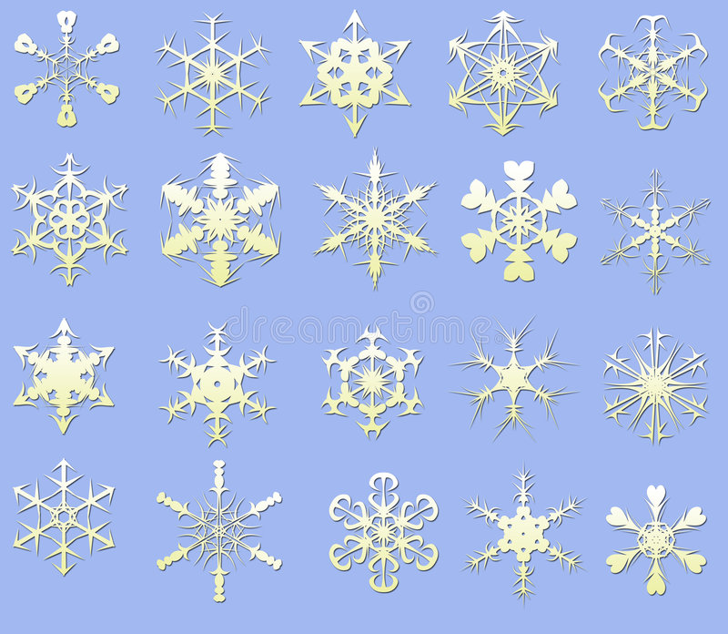 Schneeflocke. vektor abbildung