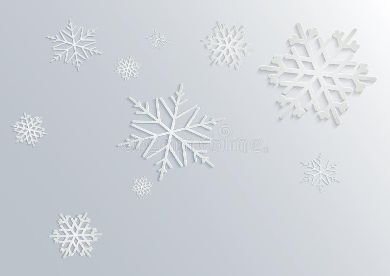 Schneeflocke 3D lizenzfreie abbildung