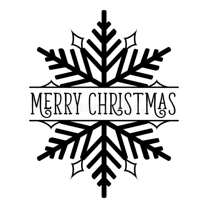 Schneeflocke der frohen Weihnachten stockfotografie