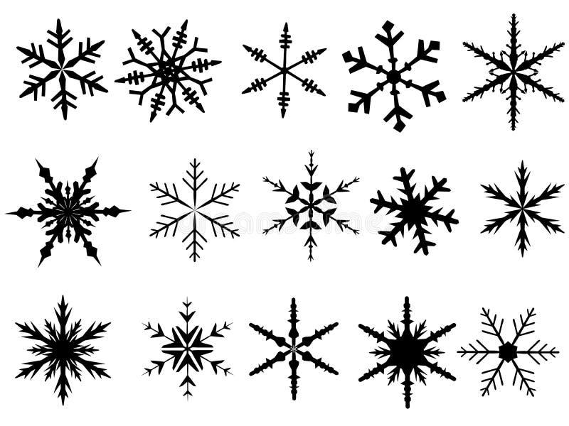 Schneeflocke-Elemente 1 lizenzfreie abbildung