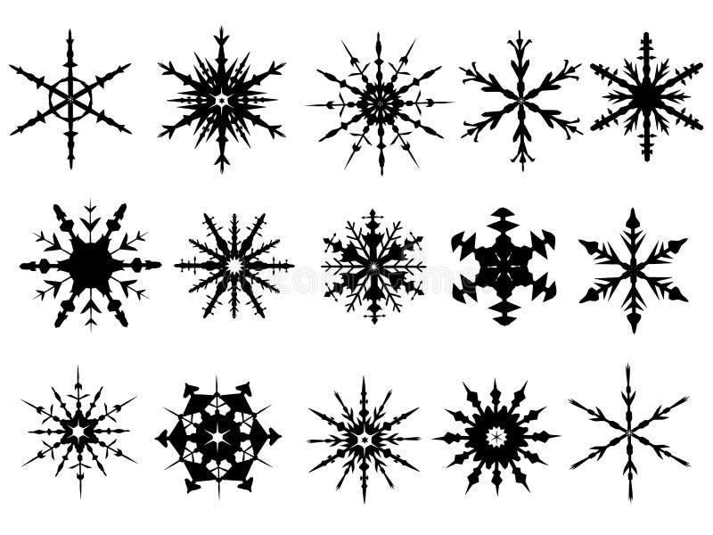 Schneeflocke-Elemente 3 lizenzfreie abbildung