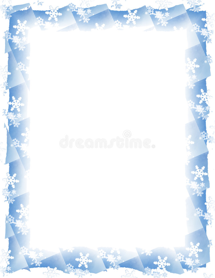 Schneeflocke-Fliese-Rand über Weiß vektor abbildung