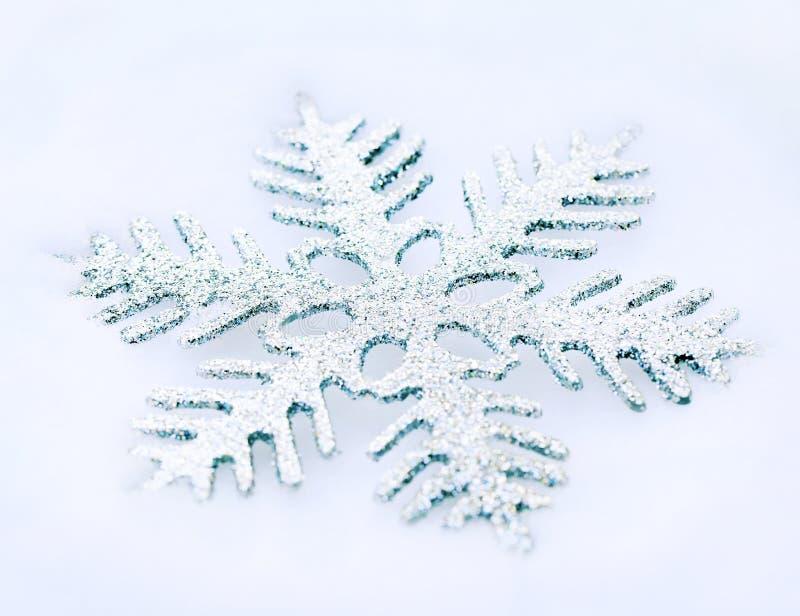 Schneeflocke im Schnee lizenzfreies stockbild