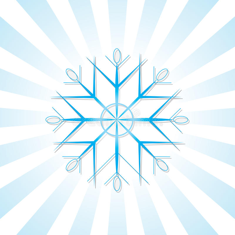 Schneeflocke mit blauen Streifen stock abbildung