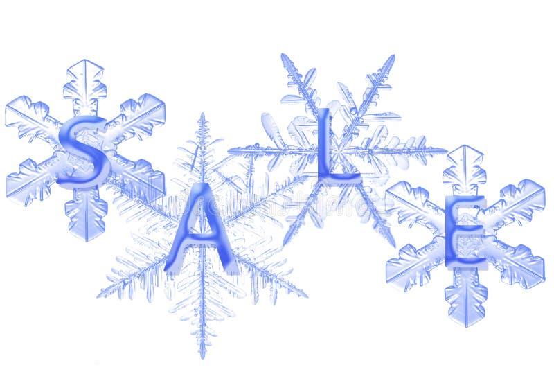 Schneeflocke mit Verkauf stockfotografie