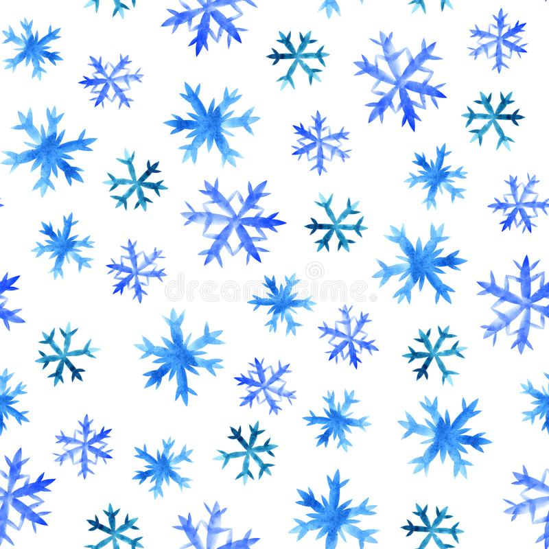 Schneeflocke-nahtloses Muster stock abbildung