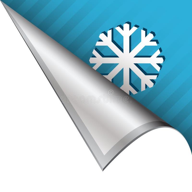 Schneeflocke oder Winterecktabulator stock abbildung