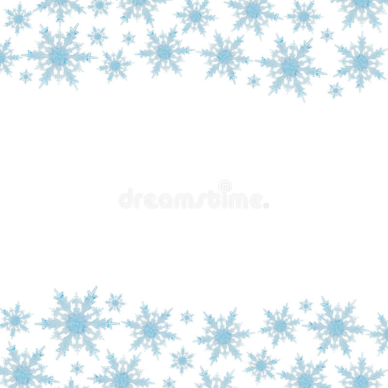 Schneeflocke-Rand lizenzfreies stockbild