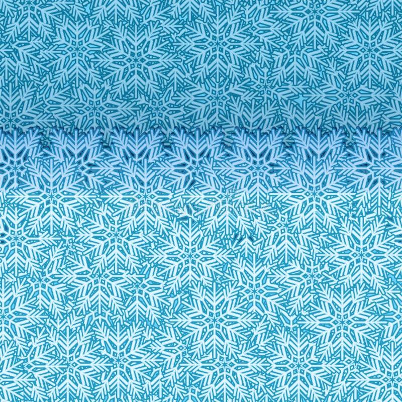 Schneeflocke springen oben nahtlosen Vektor des Randes heraus lizenzfreie abbildung