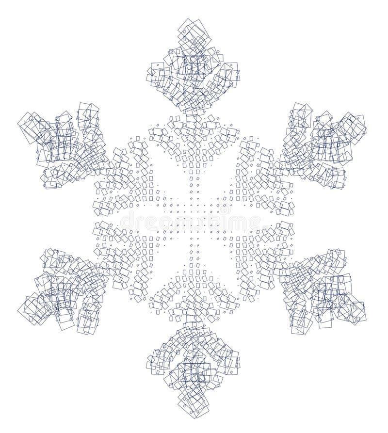 Schneeflocke und -quadrate
