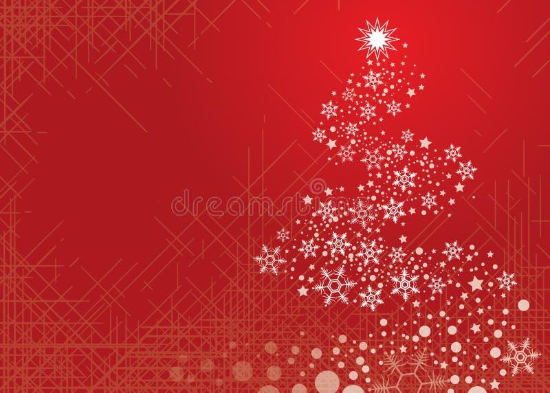 Schneeflocke-Weihnachtsbaum lizenzfreie abbildung