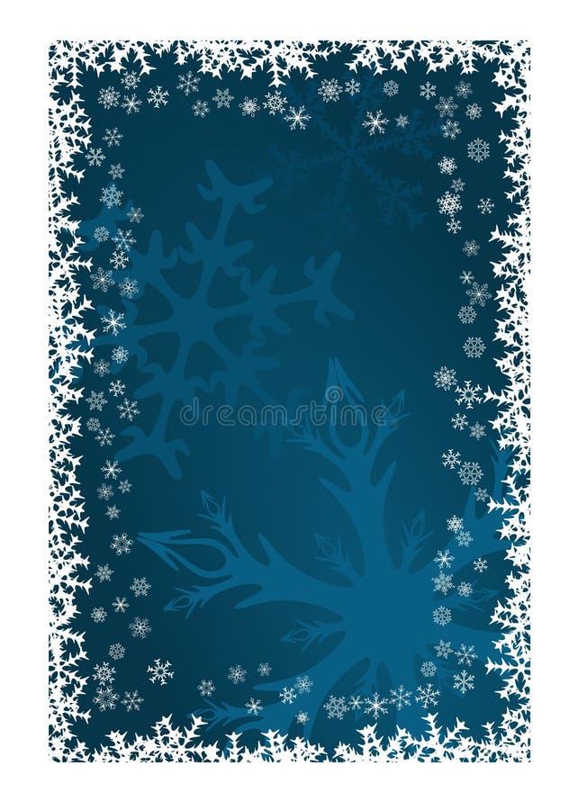 Schneeflocke-Weihnachtsdekoration lizenzfreie abbildung