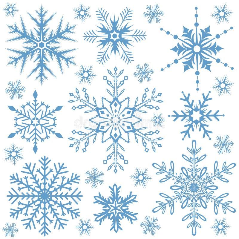 Schneeflockeansammlung vektor abbildung