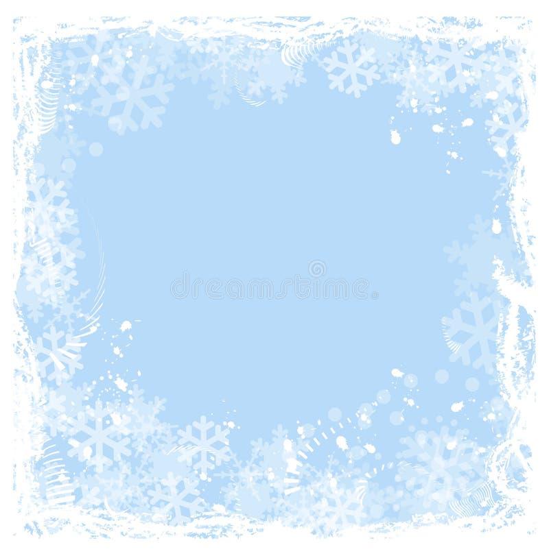 Schneeflockefeld lizenzfreie abbildung