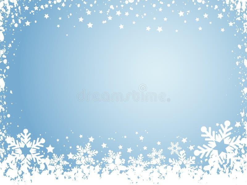 Schneeflockehintergrund stock abbildung