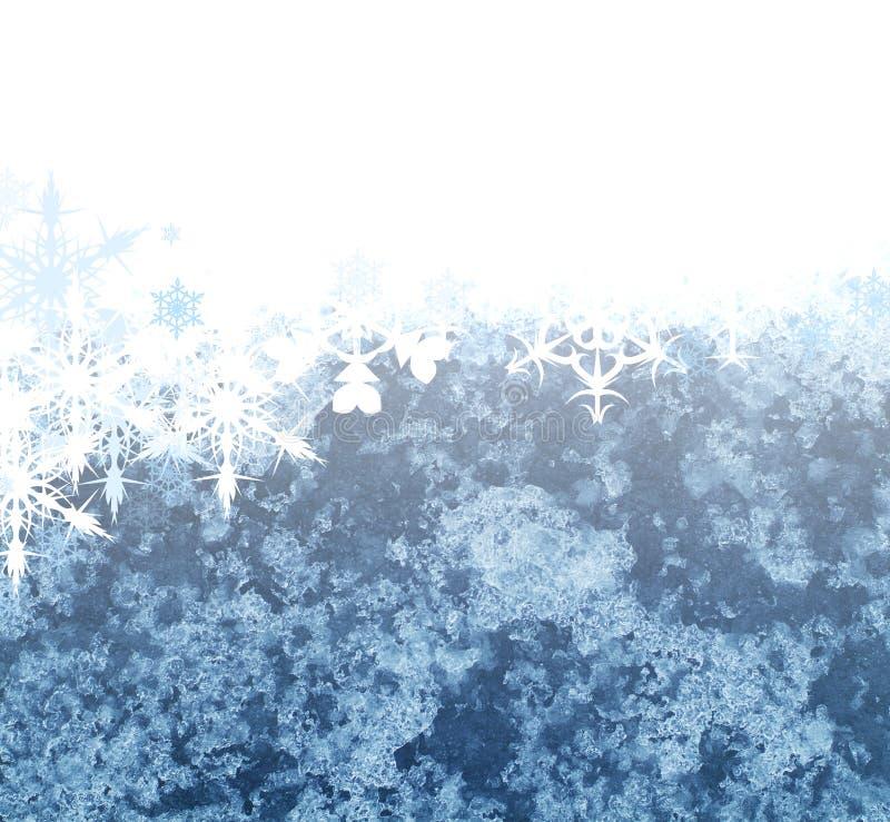 Schneeflockehintergrund lizenzfreie abbildung