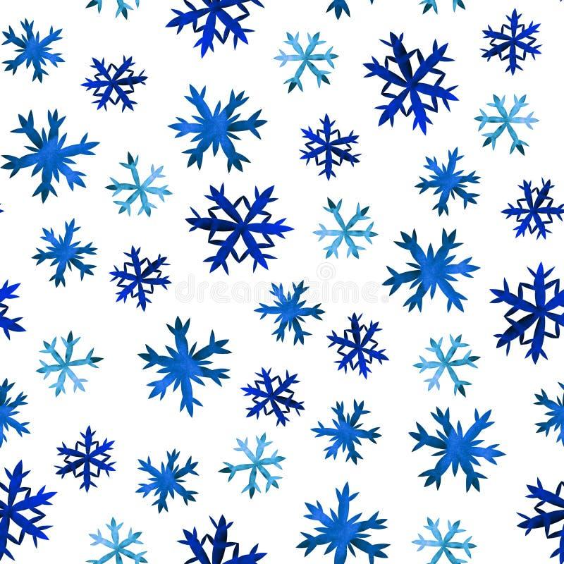Schneeflocken übergeben Zeichnung stock abbildung