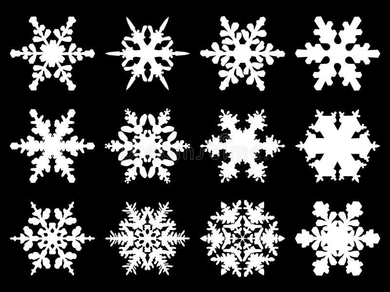 Schneeflocken vektor abbildung