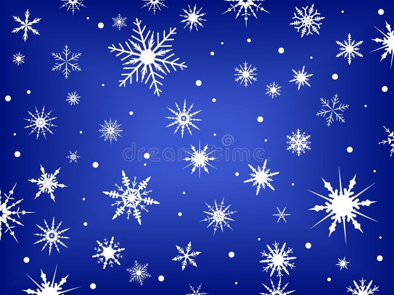 Schneeflocken auf Blau   vektor abbildung