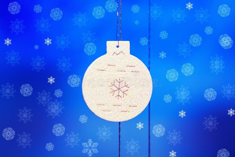 Schneeflocken auf blauem Hintergrund stockfoto